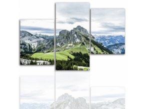 Třídílný obraz na plátně hory, vzor 12002
