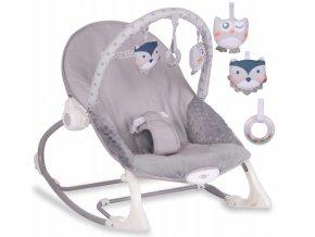 Vibrační lehátko – houpátko – židlička 3v1 pro děti od narození do 18 kg - šedý