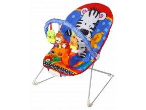 Vibrační lehátko – houpátko  – židlička pro děti od narození do 14 kg - zebra - multicolor