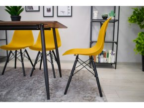 Designová židle MASSIMO hořčičná