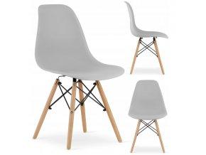 Designová židle MASSIMO šedá