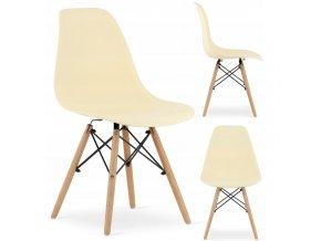 Designová židle MASSIMO krémová