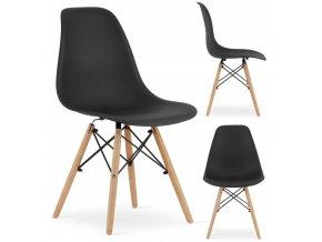 Designová židle MASSIMO černá