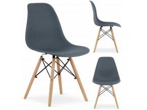 Designová židle MASSIMO tmavě šedá