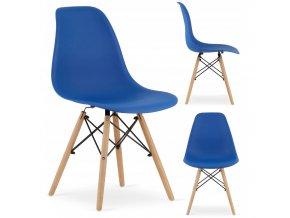 Designová židle MASSIMO tmavě modrá