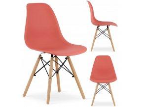 Designová židle MASSIMO tmavě lososová