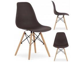 Designová židle MASSIMO hnědá