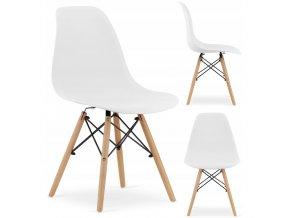 Designová židle MASSIMO bílá