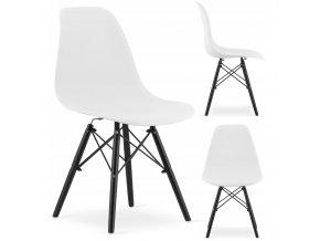 Designová židle MASSIMO BLACK bílá