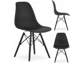 Designová židle MASSIMO BLACK černá