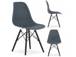 Designová židle MASSIMO BLACK tmavě šedá