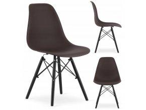 Designová židle MASSIMO BLACK hnědá
