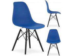 Designová židle MASSIMO BLACK tmavě modrá