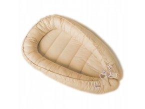 Oboustranné bavlněné hnízdečko - kokon pro miminko, béžová