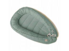 Oboustranné bavlněné hnízdečko - kokon pro miminko, zelená