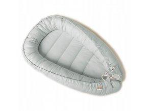 Oboustranné bavlněné hnízdečko - kokon pro miminko, světle šedá