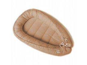 Oboustranné bavlněné hnízdečko - kokon pro miminko, hnědá