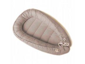 Oboustranné bavlněné hnízdečko - kokon pro miminko, šedo-béžová