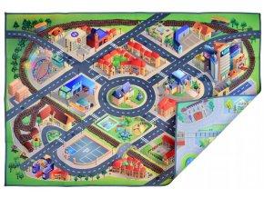Oboustranný kobereček 150x100 městečko+ulice