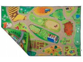Oboustranný kobereček 150x100 farma+městečko