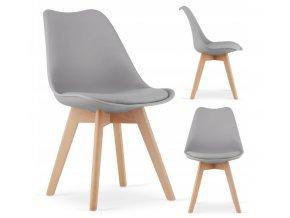 Designová židle ALTO GREY šedá