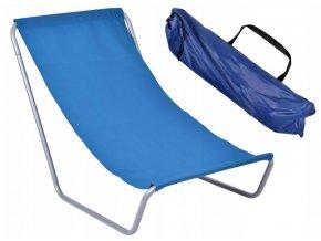 Plážové rozkládací lehátko TRAVEL - modré