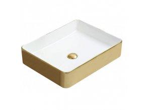 Keramické umyvadlo DIVIO MEXEN ESTELA bílá-zlatá