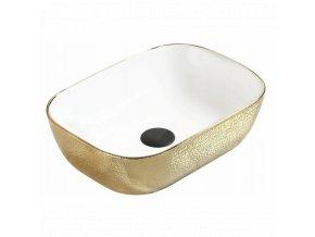 Keramické umyvadlo DIVIO MEXEN RITA bílá/zlatá
