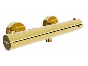 Sprchová nástěnná termostatická baterie DIVIO MEXEN KAI zlatá