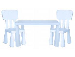 Dětský stůl s židlemi BABY blankytný