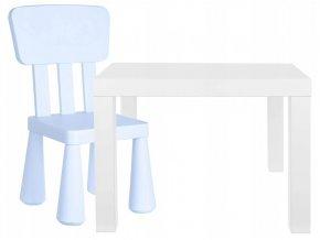 Dětský stoleček se židličkou HAPPY blankytný