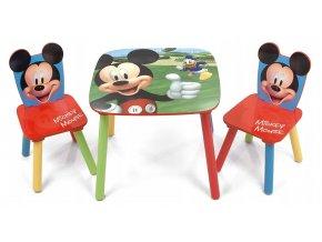 Dětský stůl s židlemi Mickey Mouse 02