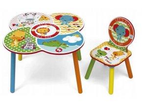 Dětský stůl se židličkouLet's Play All Day