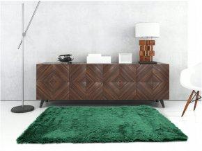 Plyšový koberec - Tmavě Zelený