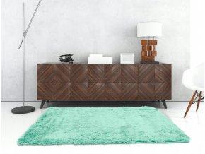 Plyšový koberec - Akvamarínový