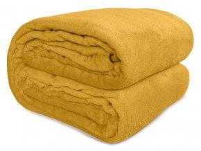 Plyšová deka SOFT - Hořčicová