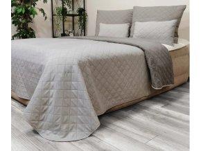Oboustranný přehoz na postel DIANA 160x200 cm světle šedá-šedá