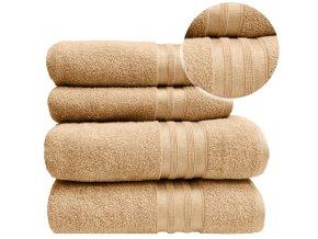 Sada ručníků a osušek VITIS - Béžový