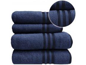 Sada ručníků a osušek VITIS - Tmavě Modrý