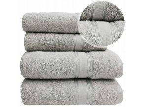 Sada ručníků a osušek LARIX - Světle Šedý