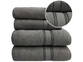 Sada ručníků a osušek LARIX - Tmavě Šedý