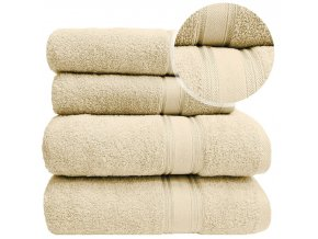 Sada ručníků a osušek LARIX - Ecru