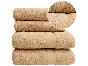 Sada ručníků a osušek LARIX - Béžový