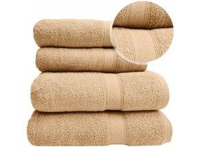 Sada ručníků a osušek BERBERIS - Béžový