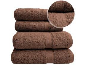 Sada ručníků a osušek BERBERIS - Hnědý