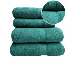 Sada ručníků a osušek BERBERIS - Smaragdový