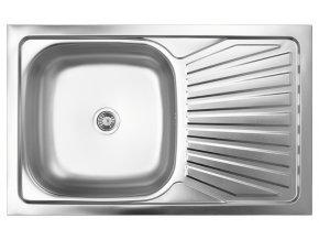 Kuchyňský nerezový dřez s odkapem, vzor 020