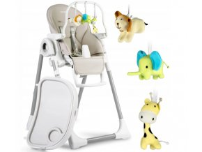 Jídelní židlička béžové, vzor 7196-7250