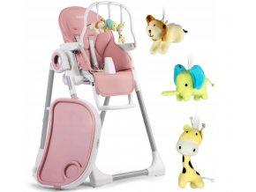 Jídelní židlička růžové, vzor 7094-7250