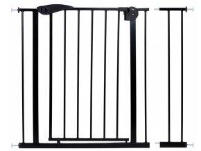 Bezpečnostní zábrana bezpečnostní bariéra 75-102 cm, výška 76 cm černá